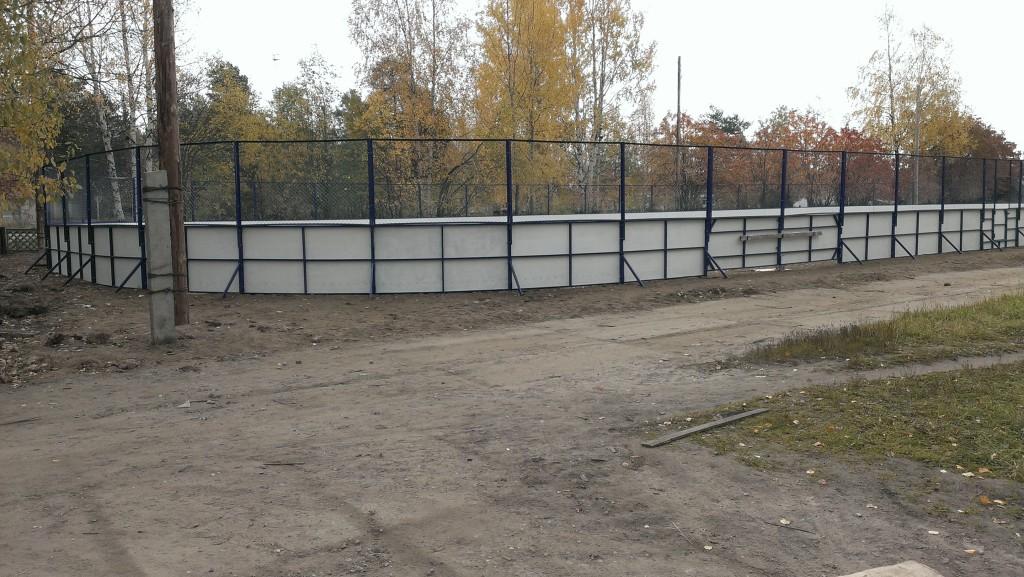 Хоккейная коробка в п. Двинской Архангельск
