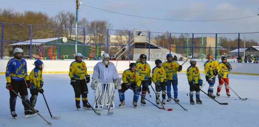 Хоккейный корт в с.Федино - Формат-спорт