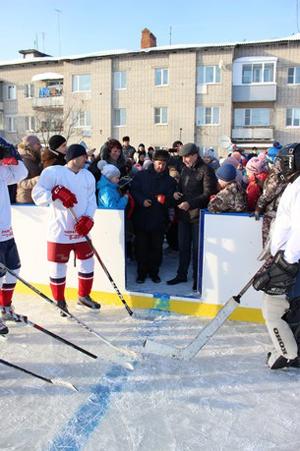 Хоккейная коробка в п.Ишня - Формат-спорт